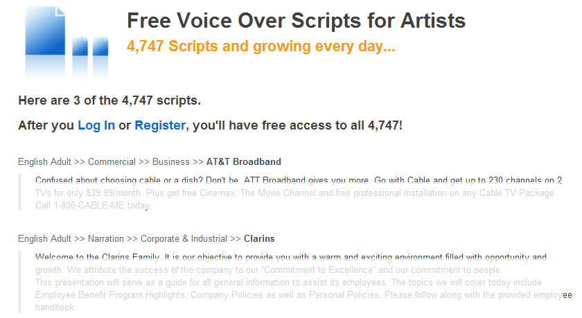 Update: Free Voiceover Practice Scripts for Voice Talent