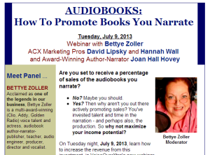 Webinar: Audiobook Promotion